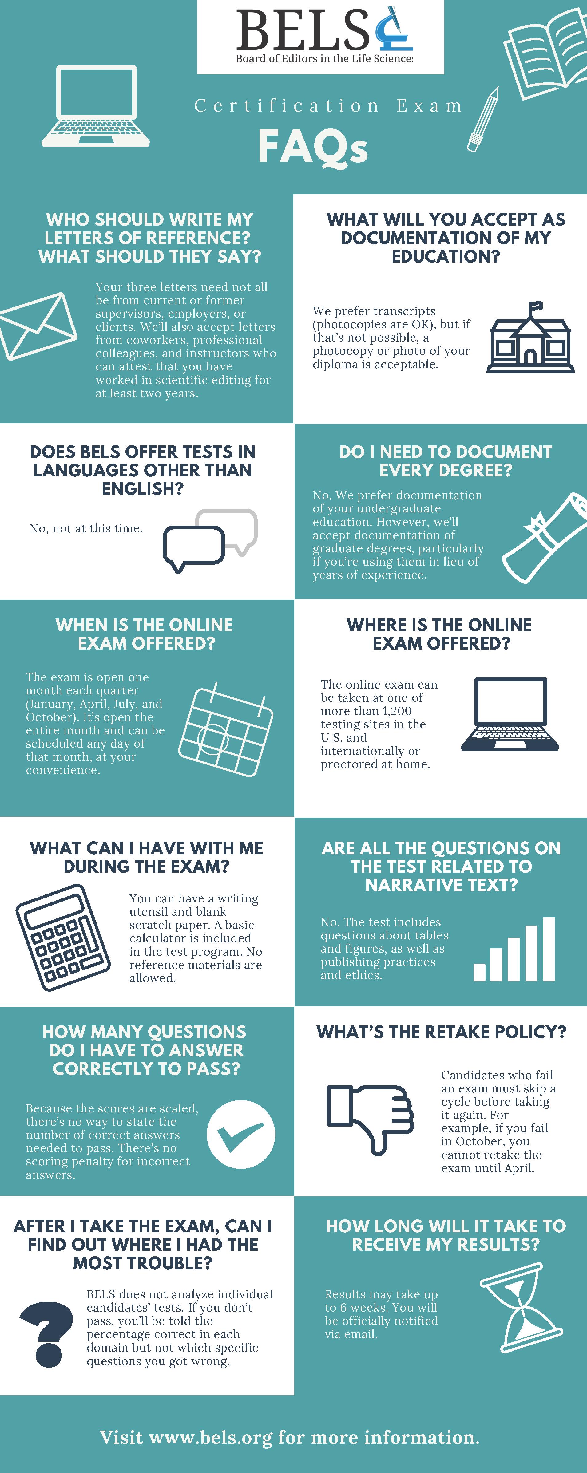 BELS Exam Infographic
